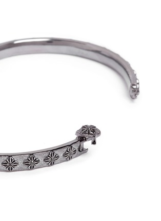 Detail View - Click To Enlarge - Shamballa Jewels - 'SoS' diamond 18k gold bangle
