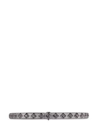 Main View - Click To Enlarge - Shamballa Jewels - 'SoS' diamond 18k gold bangle