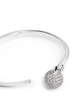 Detail View - Click To Enlarge - Shamballa Jewels - 'Nyima Cuff Mini' diamond pavé 18k white gold bangle