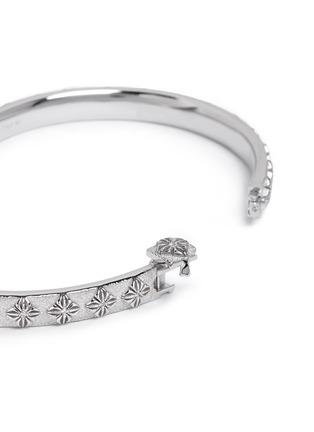 Detail View - Click To Enlarge - SHAMBALLA JEWELS - 'SoS' diamond 18k white gold bangle