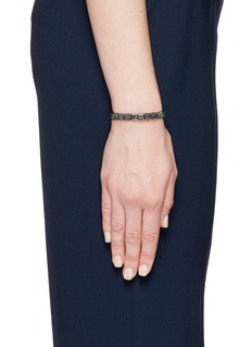 Shamballa Jewels 'Lock' black diamond 18k gold bracelet