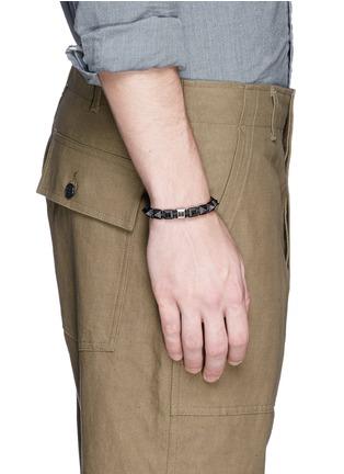 - Shamballa Jewels - 'Pyramid' black diamond 18k gold bracelet