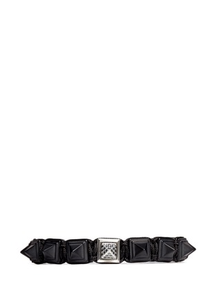 Main View - Click To Enlarge - Shamballa Jewels - 'Pyramid' black diamond 18k gold bracelet