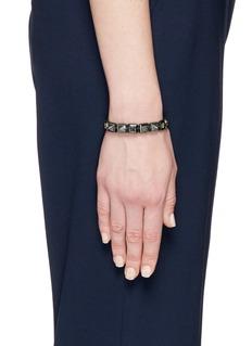 Shamballa Jewels 'Pyramid' diamond 18k gold bracelet