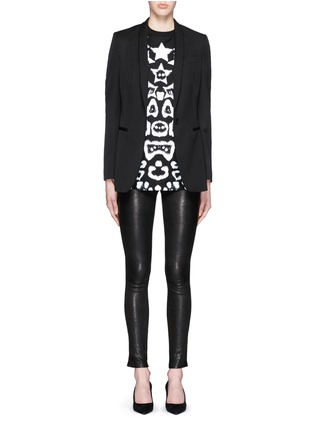 Figure View - Click To Enlarge - Givenchy - Star jaguar print oversize T-shirt