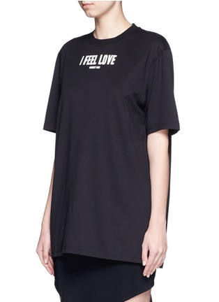 Front View - Click To Enlarge - Givenchy Beauty - 'I Feel Love' slogan T-shirt