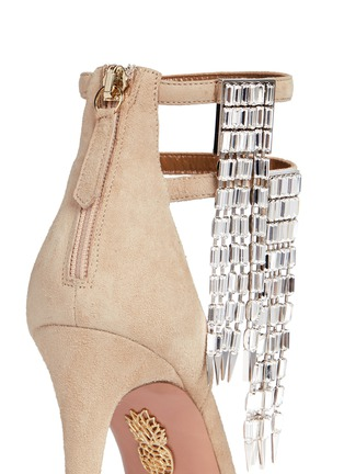Detail View - Click To Enlarge - Aquazzura - 'My Desire' jewelled fringe suede sandals