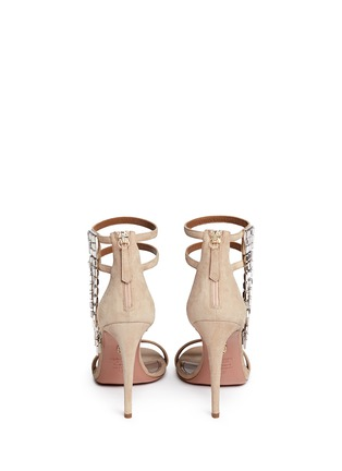 Back View - Click To Enlarge - Aquazzura - 'My Desire' jewelled fringe suede sandals