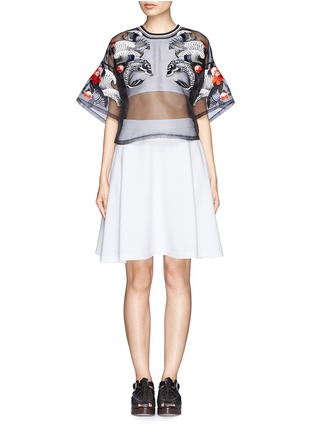 Figure View - Click To Enlarge - 3.1 PHILLIP LIM - Tattoo embroidery organza top