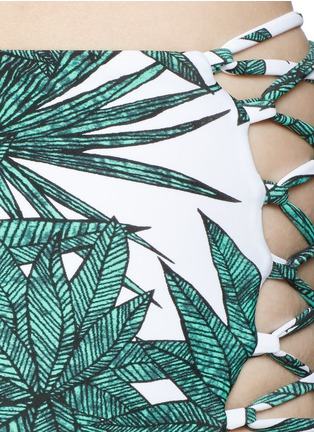 Detail View - Click To Enlarge - Mara Hoffman - 'Harvest' reversible lace up high waist bikini bottoms