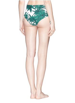 Back View - Click To Enlarge - Mara Hoffman - 'Harvest' reversible lace up high waist bikini bottoms