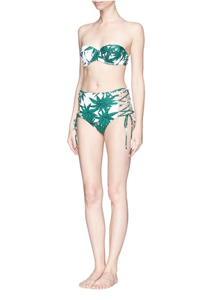 Figure View - Click To Enlarge - Mara Hoffman - 'Harvest' reversible lace up high waist bikini bottoms