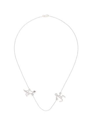 Main View - Click To Enlarge - Khai Khai - 'Running Man' diamond necklace