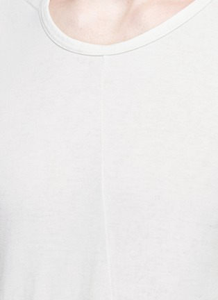 Detail View - Click To Enlarge - The Viridi-anne - Contrast seam cotton T-shirt