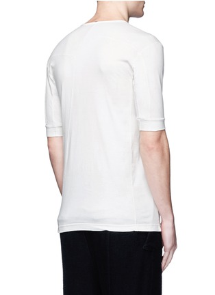 Back View - Click To Enlarge - The Viridi-anne - Contrast seam cotton T-shirt