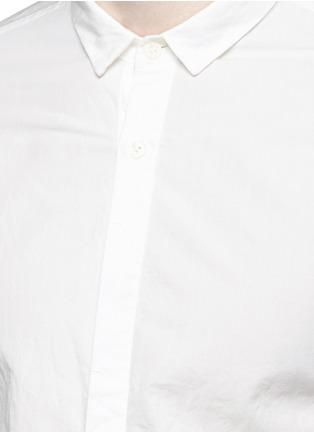 Detail View - Click To Enlarge - The Viridi-anne - Asymmetric cuff thumbhole shirt