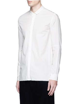 Front View - Click To Enlarge - The Viridi-anne - Asymmetric cuff thumbhole shirt