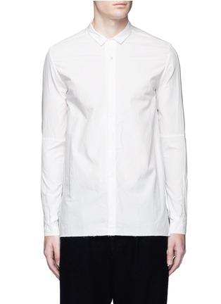 Main View - Click To Enlarge - The Viridi-anne - Asymmetric cuff thumbhole shirt