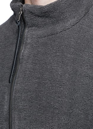 Detail View - Click To Enlarge - The Viridi-anne - Textured cotton zip jacket
