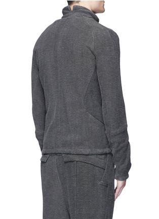Back View - Click To Enlarge - The Viridi-anne - Textured cotton zip jacket