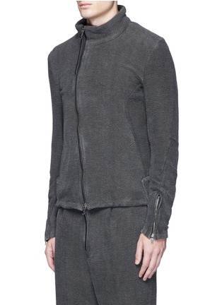 Front View - Click To Enlarge - The Viridi-anne - Textured cotton zip jacket