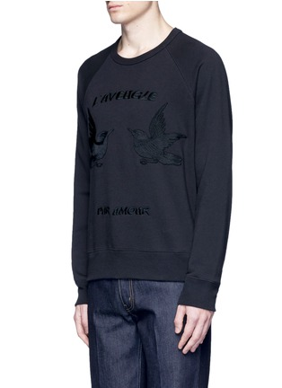 Front View - Click To Enlarge - Gucci - Bird embroidery sweatshirt