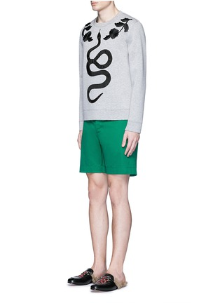 Figure View - Click To Enlarge - Gucci - Floral and snake embroidery sweatshirt