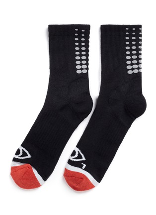 Main View - Click To Enlarge - Icny - Fade Gradient quarter ankle socks