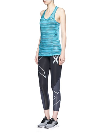 Figure View - Click To Enlarge - 2Xu - 'Elite Compression' logo print performance tights