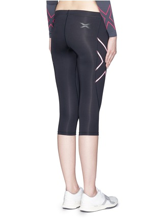 Back View - Click To Enlarge - 2Xu - '3/4 Compression' logo print performance tights