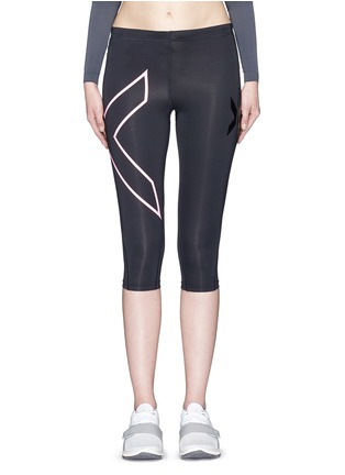 Main View - Click To Enlarge - 2Xu - '3/4 Compression' logo print performance tights