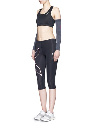 Figure View - Click To Enlarge - 2Xu - '3/4 Compression' logo print performance tights