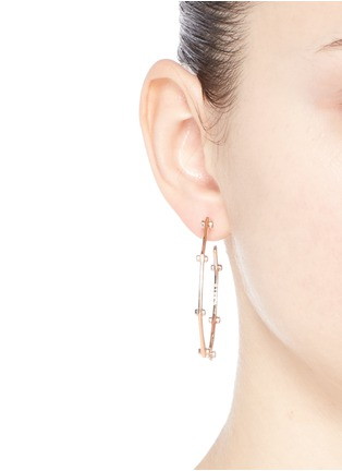 Figure View - Click To Enlarge - W.Britt - 'Cog Hoops' rivet stud earrings