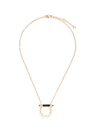 Main View - Click To Enlarge - W. BRITT - Onyx bar octagon pendant necklace
