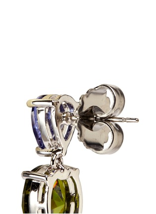 Detail View - Click To Enlarge - CZ by Kenneth Jay Lane - Contrast cubic zirconia stud earrings
