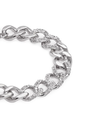 Detail View - Click To Enlarge - CZ by Kenneth Jay Lane - Cubic zirconia pavé curb chain bracelet