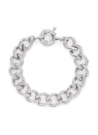 Main View - Click To Enlarge - CZ by Kenneth Jay Lane - Cubic zirconia pavé curb chain bracelet