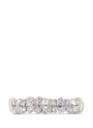 Main View - Click To Enlarge - CZ BY KENNETH JAY LANE - Pavé raised arch mix cubic zirconia bracelet