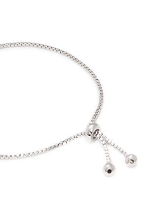 Detail View - Click To Enlarge - CZ by Kenneth Jay Lane - 'Shamballa' cubic zirconia toggle bracelet