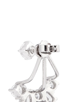 Detail View - Click To Enlarge - CZ BY KENNETH JAY LANE - Cubic zirconia jacket earrings