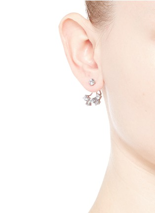 Figure View - Click To Enlarge - CZ BY KENNETH JAY LANE - Cubic zirconia jacket earrings