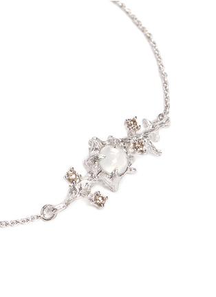 Detail View - Click To Enlarge - Heting - 'Dewdrop' icy jade fancy diamond 18k white gold bracelet