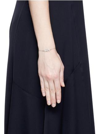 Figure View - Click To Enlarge - Heting - 'Dewdrop' icy jade fancy diamond 18k white gold bracelet