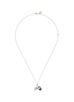 Main View - Click To Enlarge - HETING - 'Pinecone' tsavorite pearl pendant 18k white gold necklace