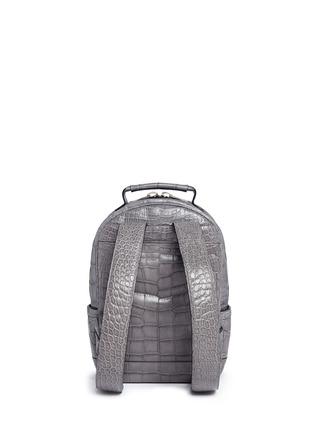 Back View - Click To Enlarge - Stalvey - 'Brighton' medium alligator leather backpack