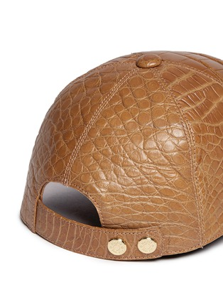 Detail View - Click To Enlarge - Stalvey - Alligator leather baseball cap