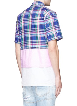 Back View - Click To Enlarge - Dsquared2 - Mixed layer patchwork shirt