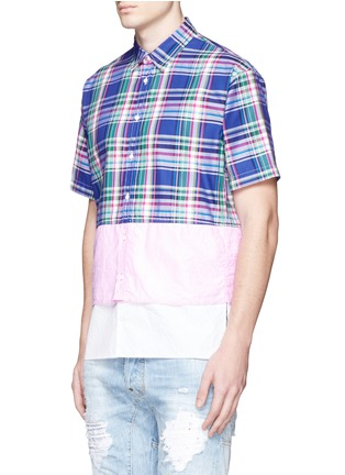Front View - Click To Enlarge - Dsquared2 - Mixed layer patchwork shirt
