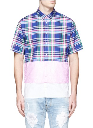 Main View - Click To Enlarge - Dsquared2 - Mixed layer patchwork shirt
