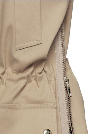 Detail View - Click To Enlarge - Givenchy - Side zip cotton-blend drawstring parka